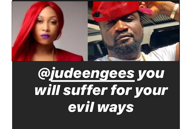 Singer Cynthia Morgan Says Music CEO Jude Okoye Will Suffer For His Evil Ways..
