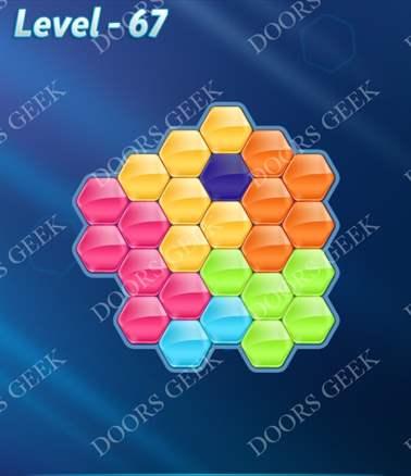 Block! Hexa Puzzle [Intermediate] Level 67 Solution, Cheats, Walkthrough for android, iphone, ipad, ipod