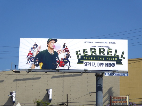 Ferrell Takes the Field TV movie billboard