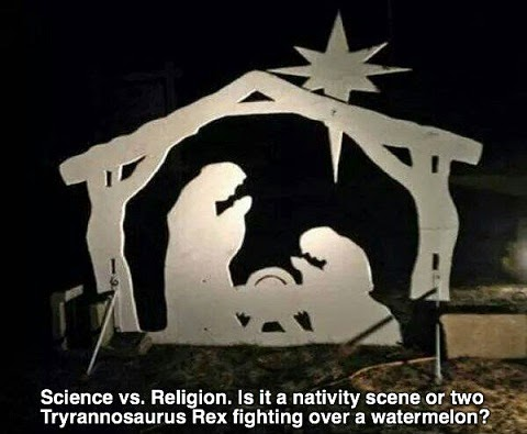 ciencia religión belén t rex tyrannosaurus natividad dinosaurio