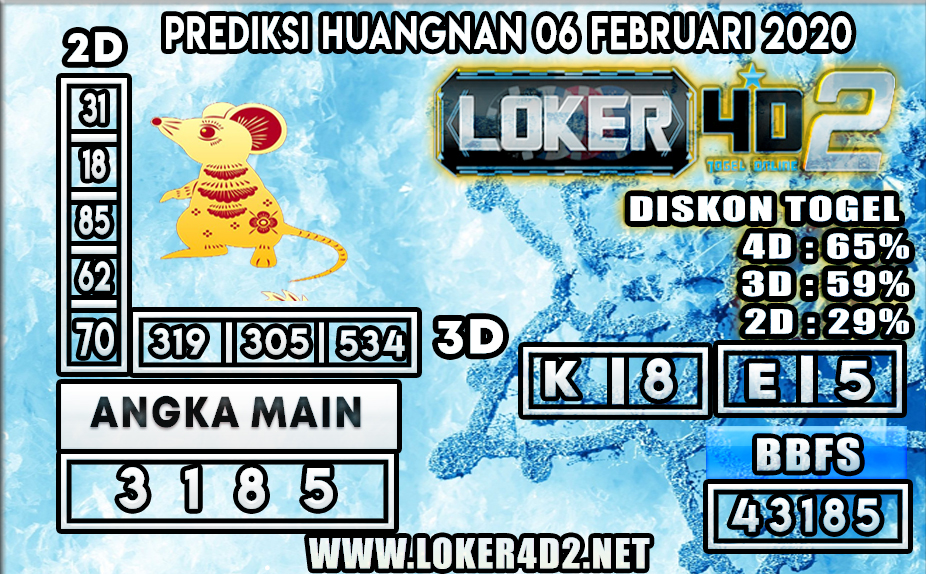 PREDIKSI TOGEL HUANGNAN LOKER4D2 06 FEBRUARI 2020