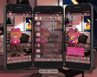 Teddy At Apple Laptop Theme For YOWhatsApp & Fouad WhatsApp By Luna