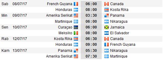 Jadwal pertandingan CONCACAF Gold Cup 2017