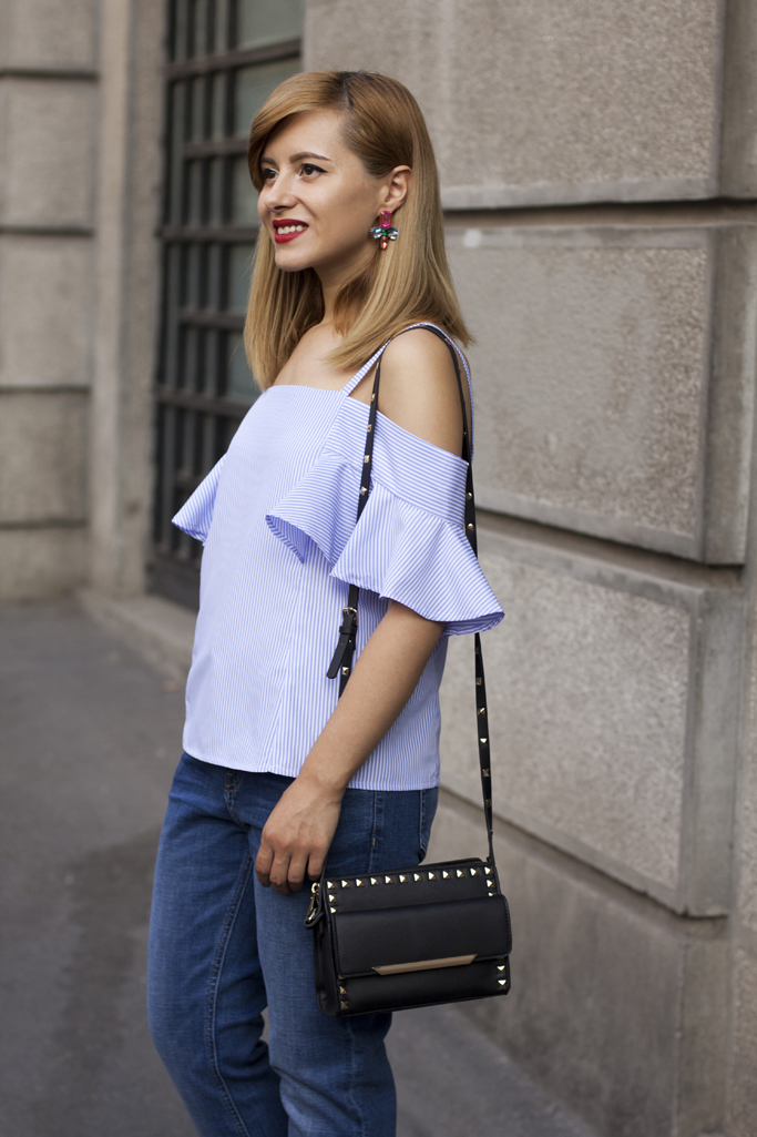 rosegal off the shoulder blouse