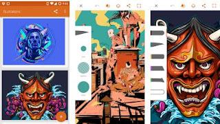 Aplikasi Terbaik Untuk Menggambar di Android - Adobe Illustrator Draw