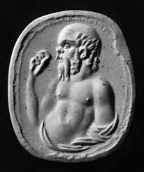 Bas-relief of Socrates