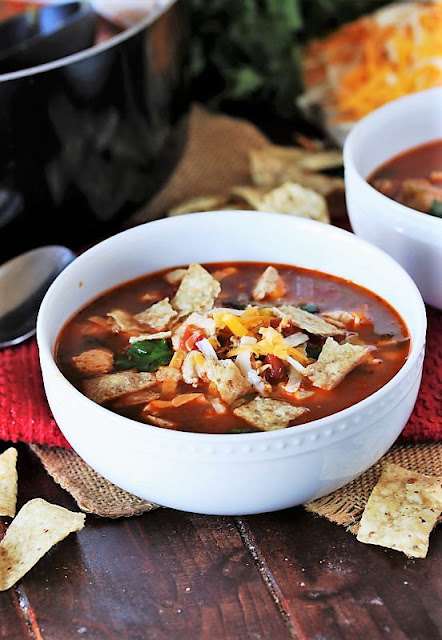 Bowl of Chicken Tortilla Soup Image