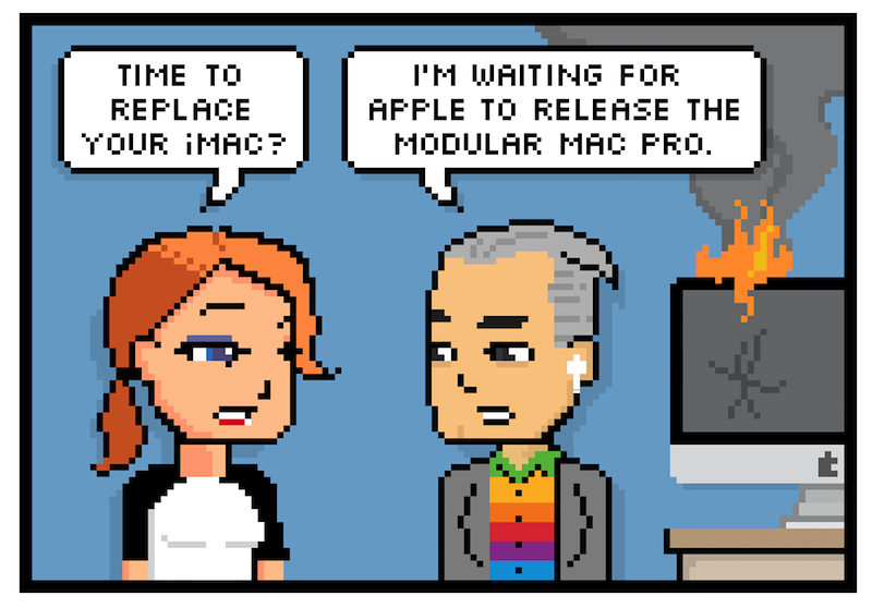 The Pixel Project: Comic: Only the Fastest Mac For Me!, by Rich Stevens.