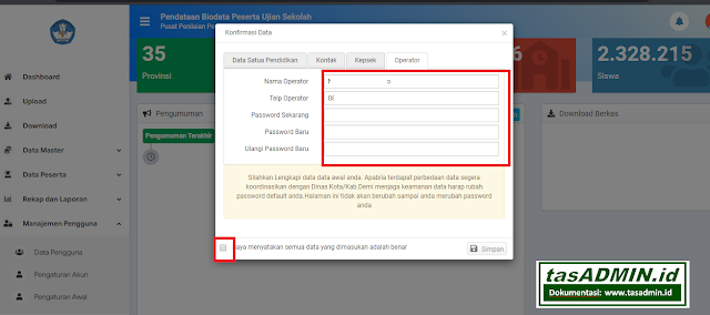 username dan password bio un sd