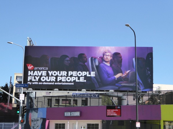 Virgin your people fly our people billboard