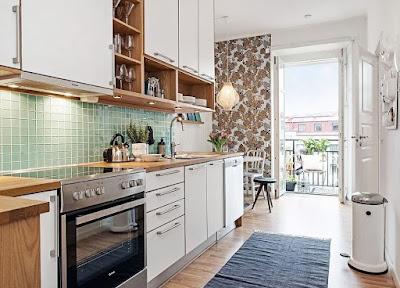 Modern Scandinavian kitchen style ideas with white counter