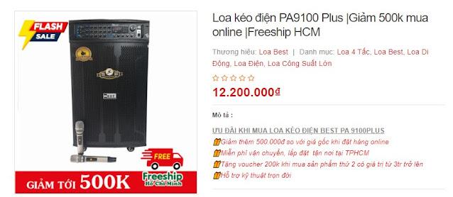 Loa kéo điện công suất lớn PA 9100 Plus- Giảm 500K mùa dịch