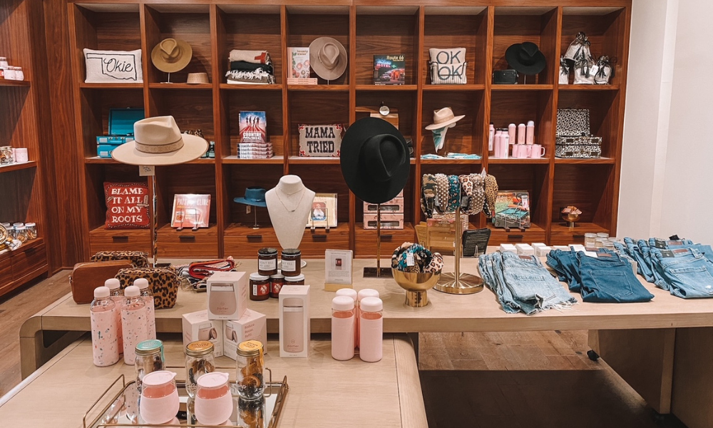 The Omni Oklahoma City has an upscale boutique gift shop featuring local and locally inspired items
