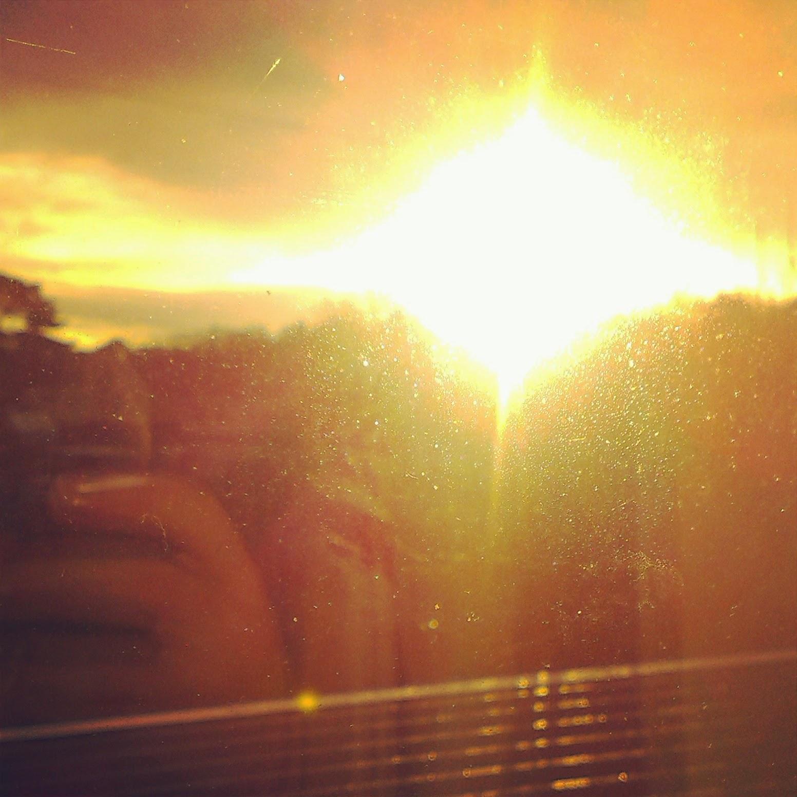9am - sun in the morning