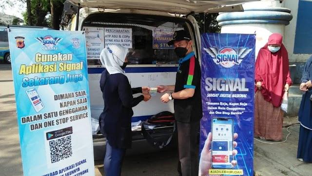 P3DW Subang Buka Kembali Layanan Samsat Keliling  Di Pasar Terminal Subang