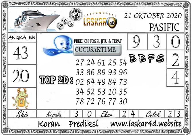 Prediksi Togel PASIFIC LASKAR4D 21 OKTOBER 2020