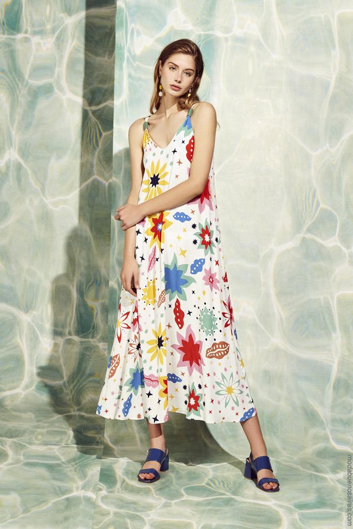Vestidos primavera verano 2020 largos moda mujer 2020.