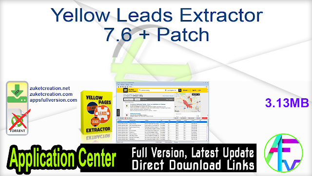 Yellow Leads Extractor 7.6 + Patch