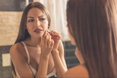 images Danger of squeezing zits in the triangular area of the face