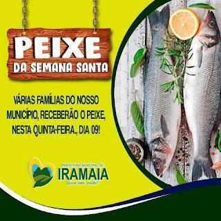 Prefeitura de Iramaia distribui peixe