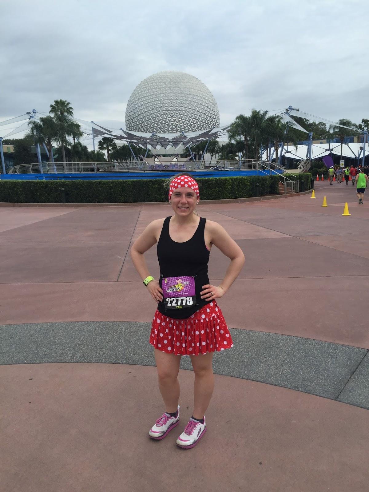 Dopey Challenge Mickey Marathon 2016 Beautiful spaceship earth