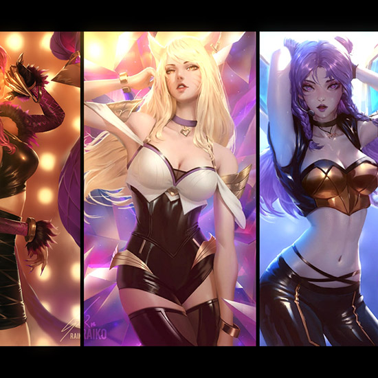 K/DA (Audio Responding + X-Ray) Wallpaper Engine