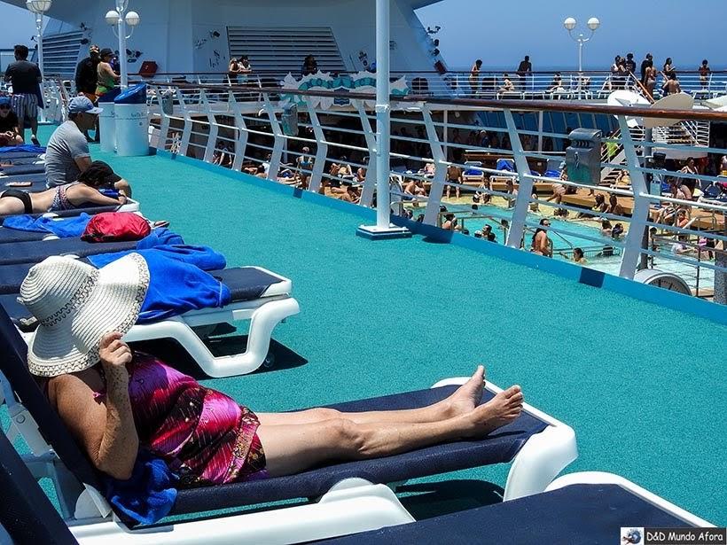 Dia de navegação no navio - Diário de Bordo: cruzeiro pelo Caribe