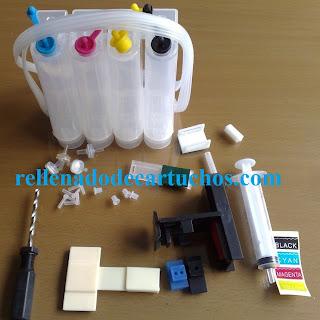 Partes del sistema de tinta para instalar en impresoras de inyección.