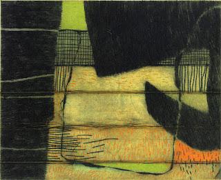 Georg Bothe: White Riot LXX, II/XI, Farbradierung, 2008