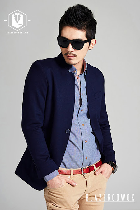 blazer cowok blazercowok.com jaket korean jas pria sk82 b