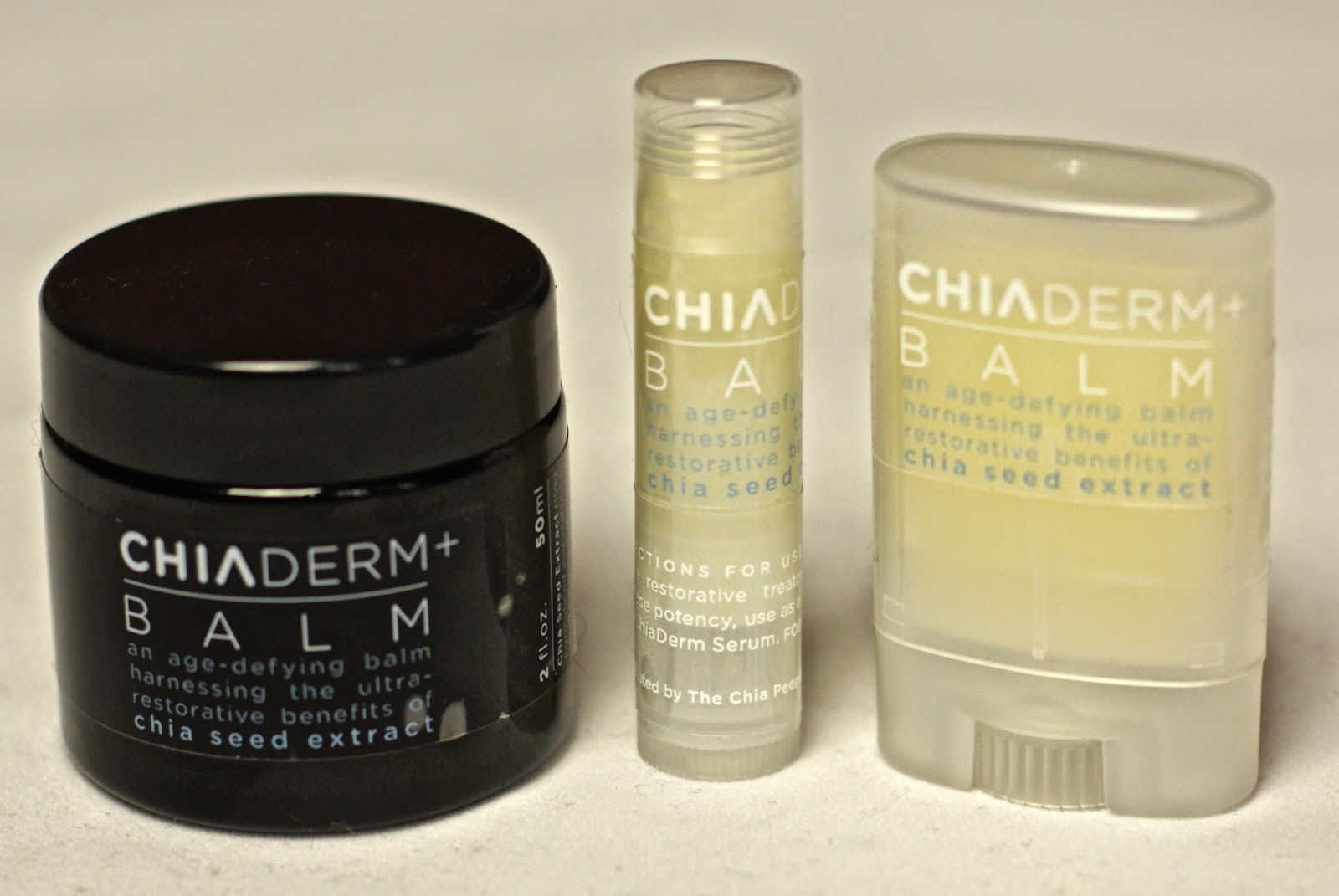 ChiaDerm+ lip balms with chia seeds