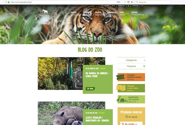 Jardim Zoológico renova Site Oficial