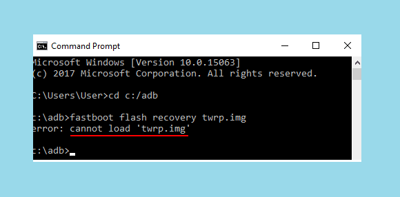 Error Command Prom Windows TWRP Xiaomi
