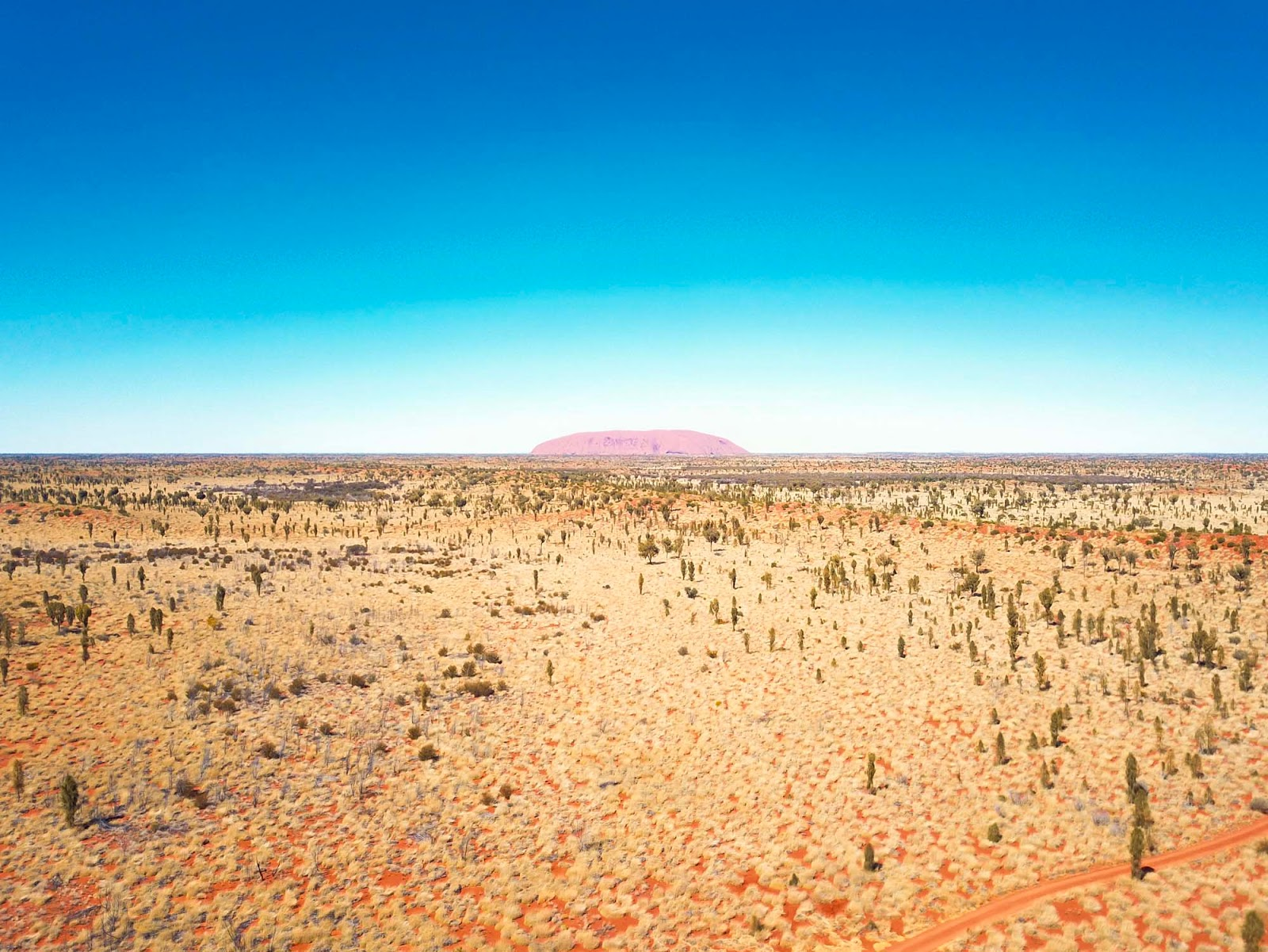 aerial shot over the red centre
