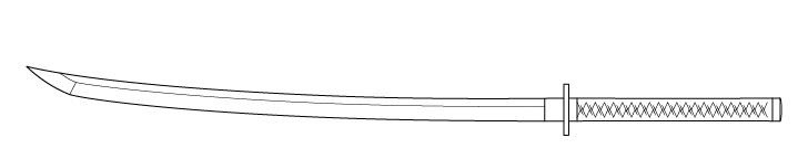Gambar lipatan bungkus gagang katana