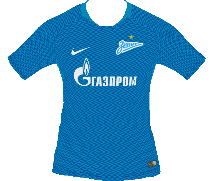 PES 2018 Zenit St.Petersburg 2018-19 Home Kit by tekask1903