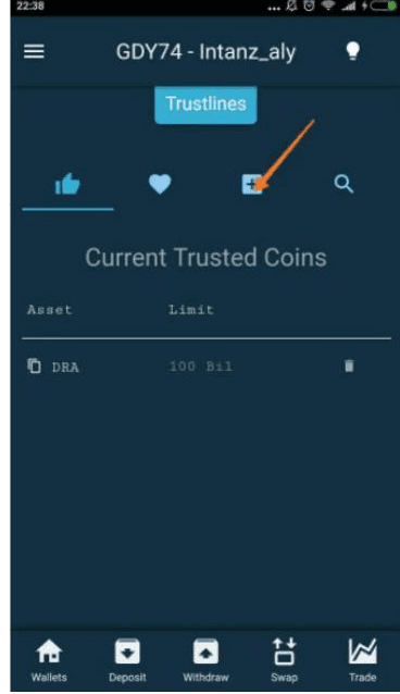 menu Current Trusted Coins