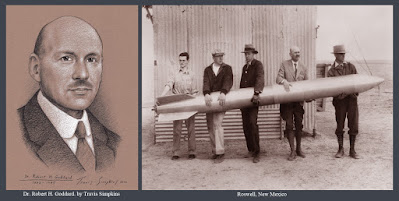 Dr. Robert H. Goddard. First Liquid-Fueled Rocket. Roswell, New Mexico. by Travis Simpkins