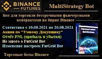 MultiStrategy Bot - статистика торговли ботом c 10.08 по 20.08.2021 + Акция + немного о FutGrid Bot