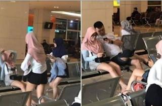 Pakai Jilbab Tapi Cuma Pakek Celana Pendek, Wanita ini Buat Heboh Netizen