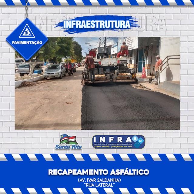 SANTA RITA: Secretaria municipal de Infraestrutura realiza diversas obras por todo o município