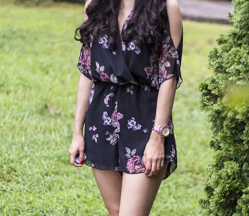 floral romper outfit