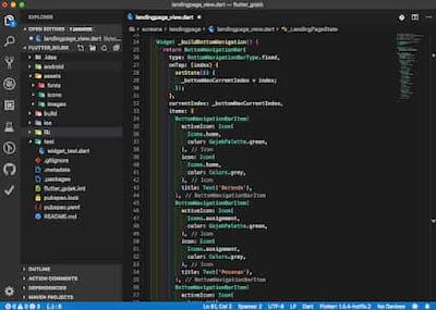 Visual studio code for Flutter