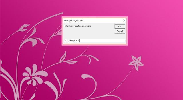 Membuat pasword mengikuti tanggal komputer