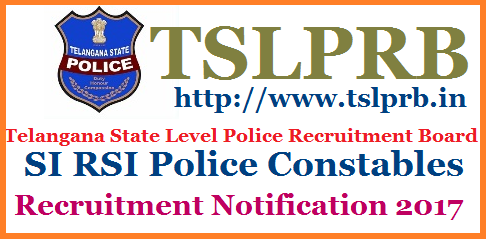 TS Police Constable Recruitment Notification 2017 Eligibility Exam Syllabus Certificates@tslprb.in Telangana State Govt Recruitment Notification for Constables in Home Department | Eligibility Criteria for the Posts |  ts-police-constable-recruitment-notification-eligibility-exam-syllabus-online-application-tslprb.in-hall-tickets-results-selection-list-download Applications are invited through ONLINE mode only in the prescribed proforma to be made available on WEBSITE (www.tslprb.in) from ( dates will be mentioned in Notification ) for recruitment to the following posts. The registered candidates may download their Hall Ticket one week before the date of  Preliminary Written Test, The number of vacancies indicated is only tentative and is liable for change without giving any notice. TSLPRB reserves the right to notify the modifications with regard to any aspect of recruitment during the process of recruitment.