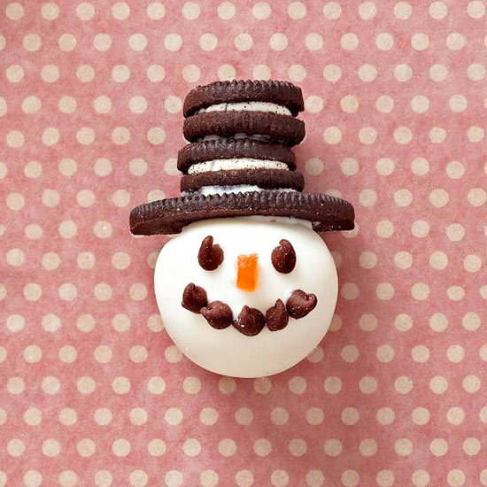 5 Fun Holiday Treats to make with the kiddos over the Holidays-Snowman Truffles