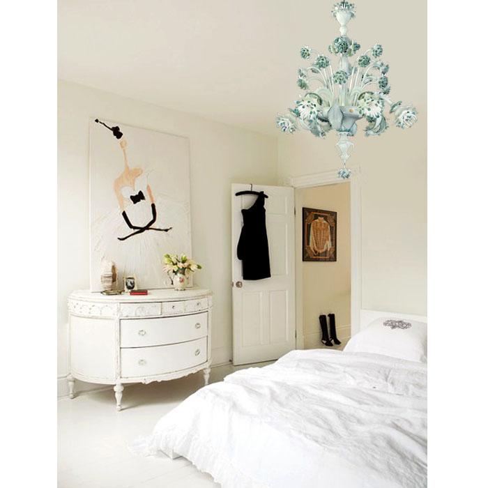 Mobili shabby chic atelier myartistic lampadario murano for Lampadari moderni camera letto
