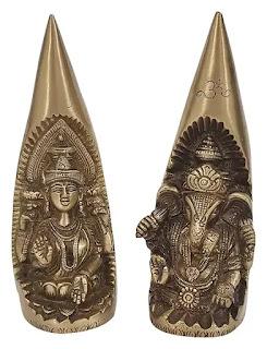 Brass Lakshmi and Ganesh Murti for Diwali Puja