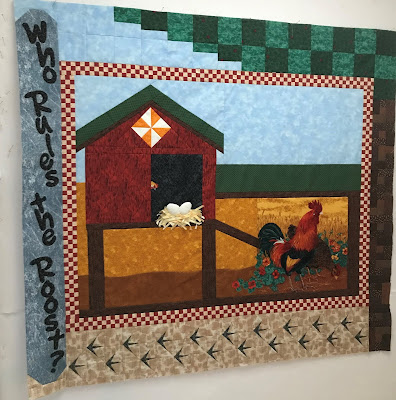 Who Rules the Roost hen house by QuiltFabrication