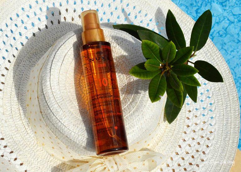 Brązujący olejek do opalania twarzy i ciała SPF 10 Nuxe Sun